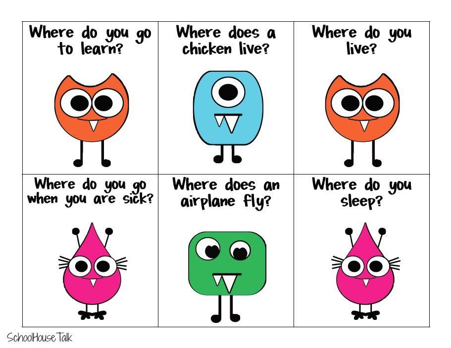 Preschool Wh Questions Worksheets 7