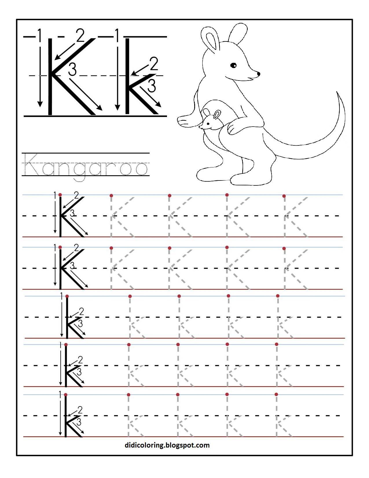 Preschool Worksheets For Letter K