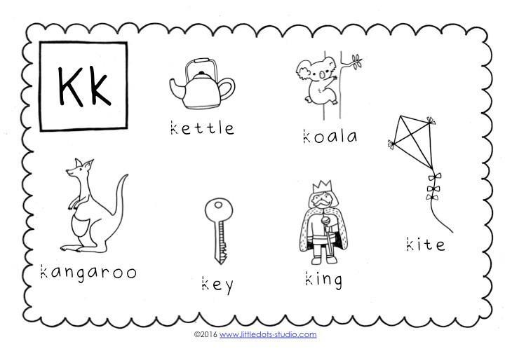 Preschool Worksheets Letter K 1