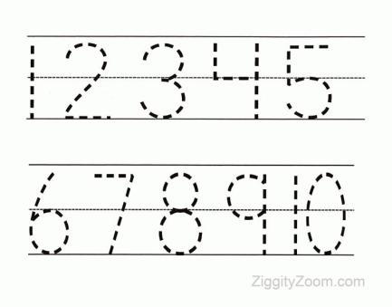 Preschool Worksheets Numbers 1-100