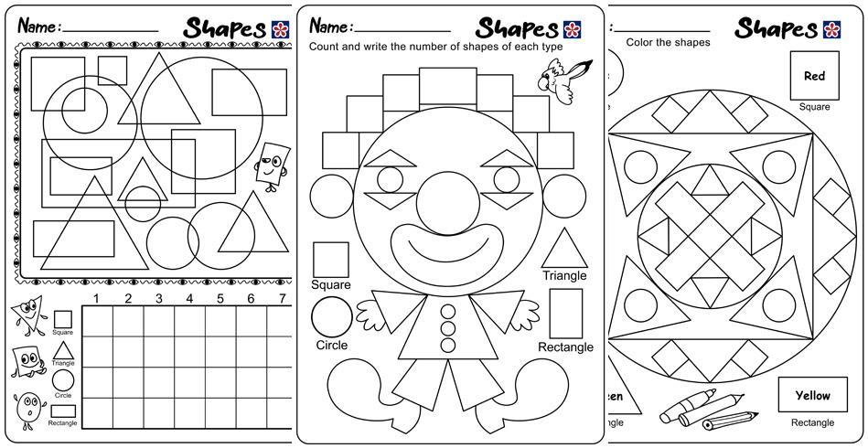 Preschool Worksheets Shapes And Colors 7