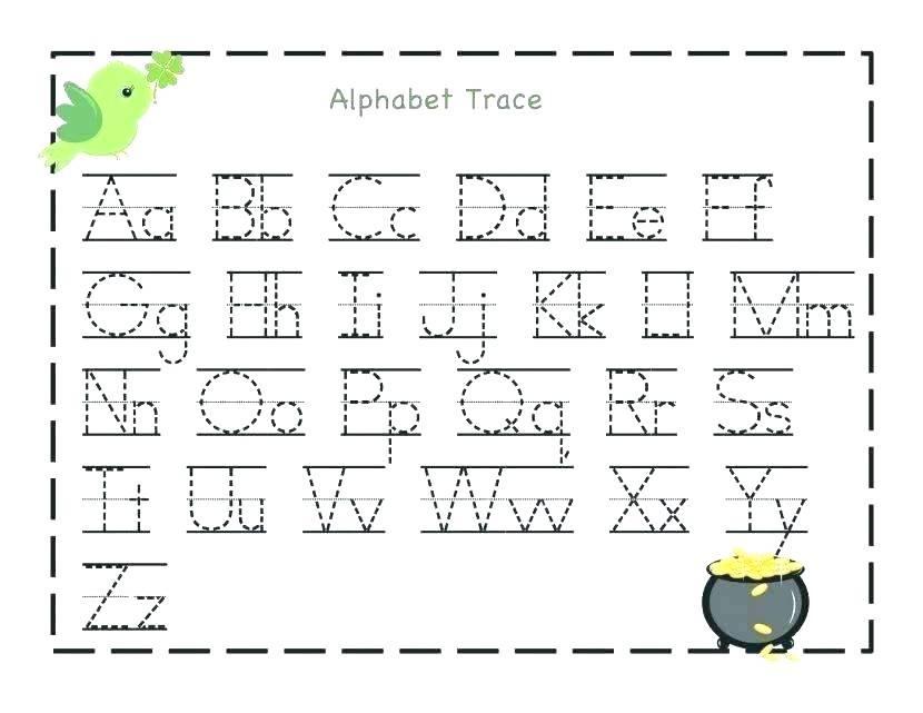 Preschool Worksheets Tracing Letters 1