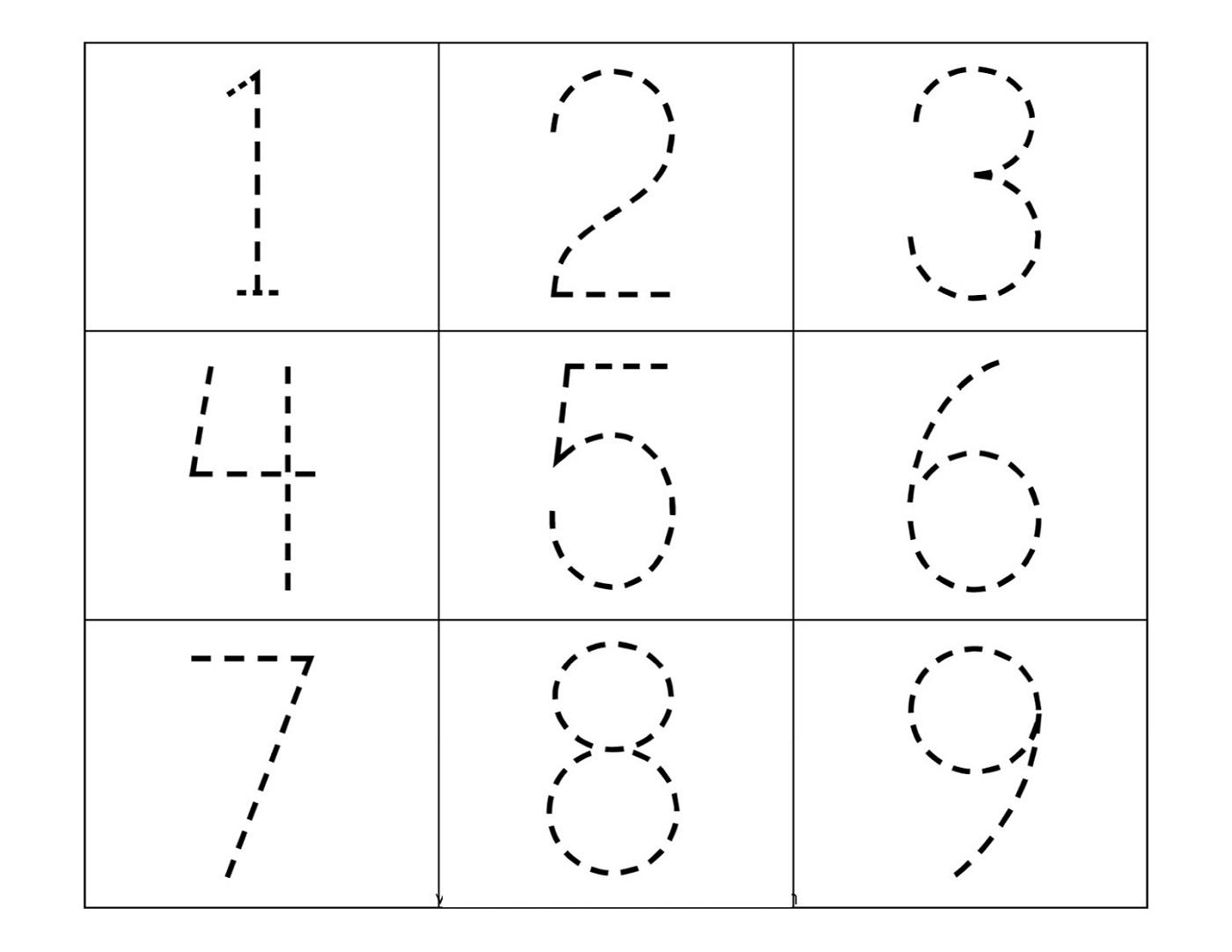 Preschool Worksheets Tracing Letters And Numbers 3