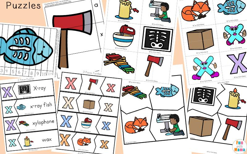 Letter X Tracing Worksheets For Preschool