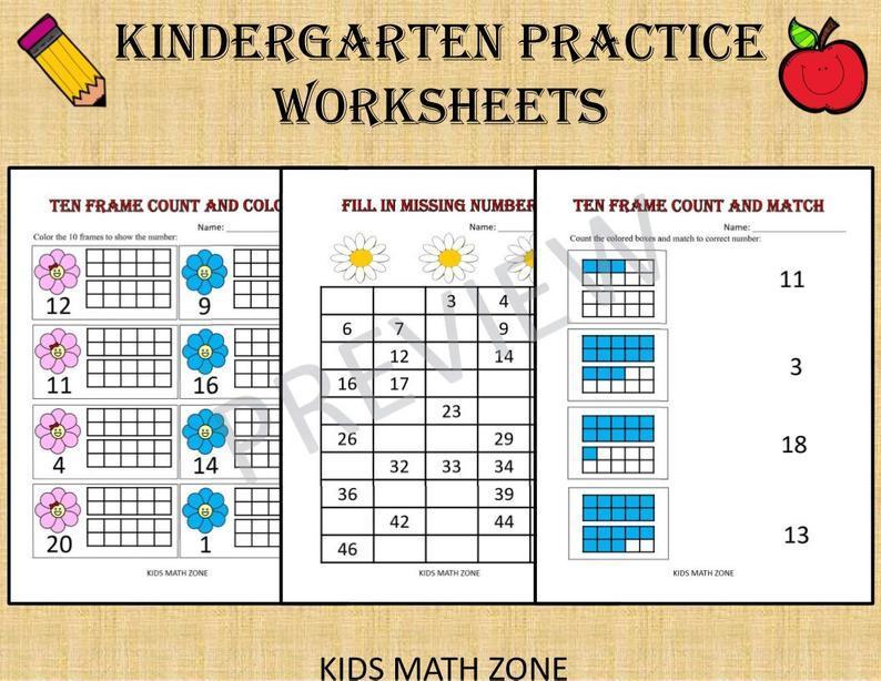 Math Worksheets For Kindergarten 5