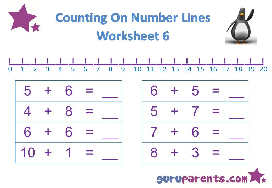 Math Worksheets For Kindergarten 6