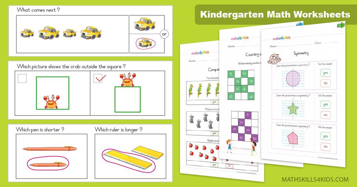Math Worksheets For Kindergarten 8