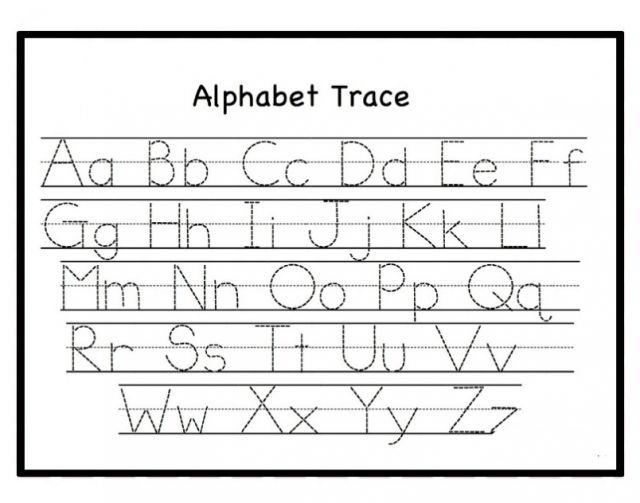 Preschool Alphabet X Worksheet 4