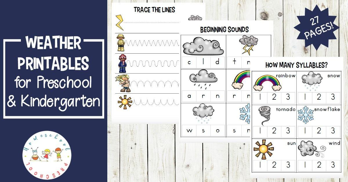 Preschool Worksheets About Weather