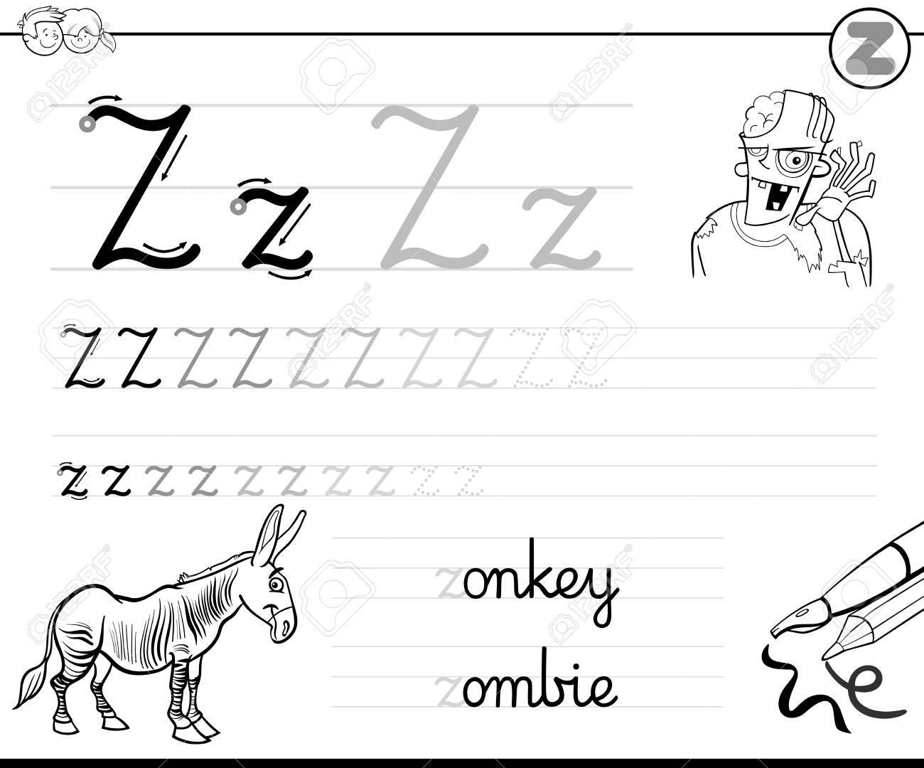 Preschool Worksheets Letter Z 3