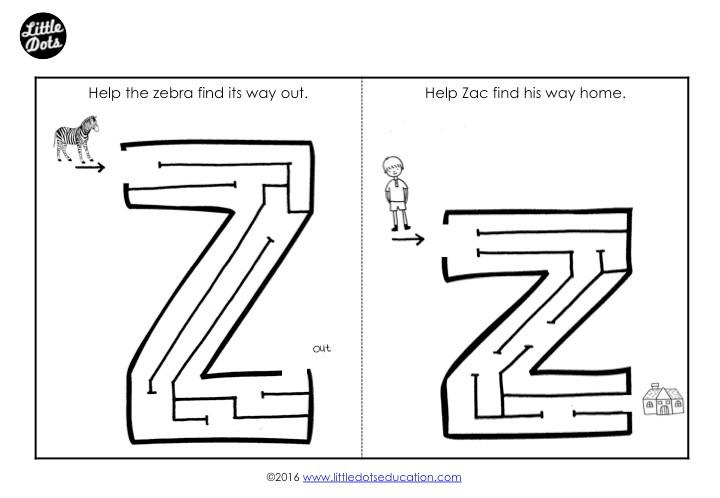 Preschool Worksheets Letter Z 6