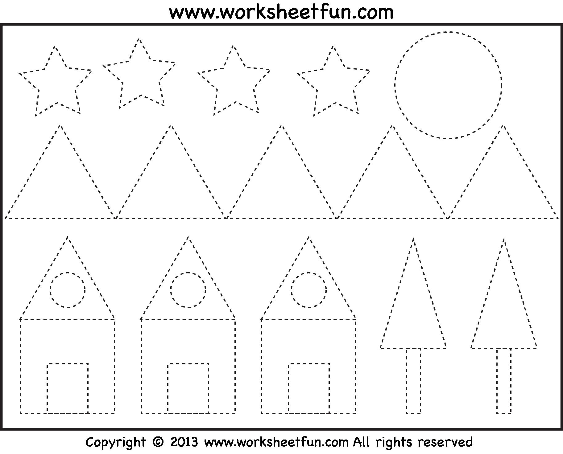 Preschool Worksheets Tracing Shapes 4