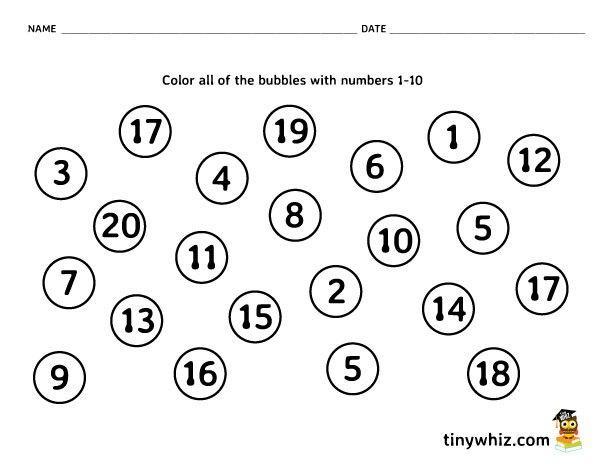 Preschool Worksheets Writing Numbers 3