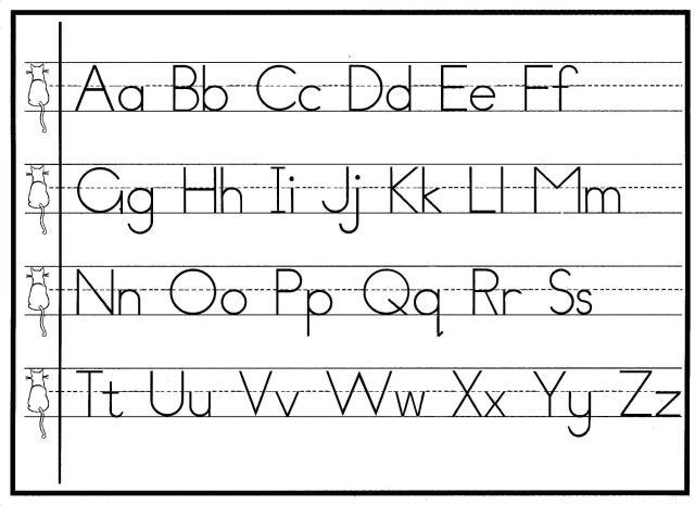 Preschool Writing Worksheets A-z For Beginners 10