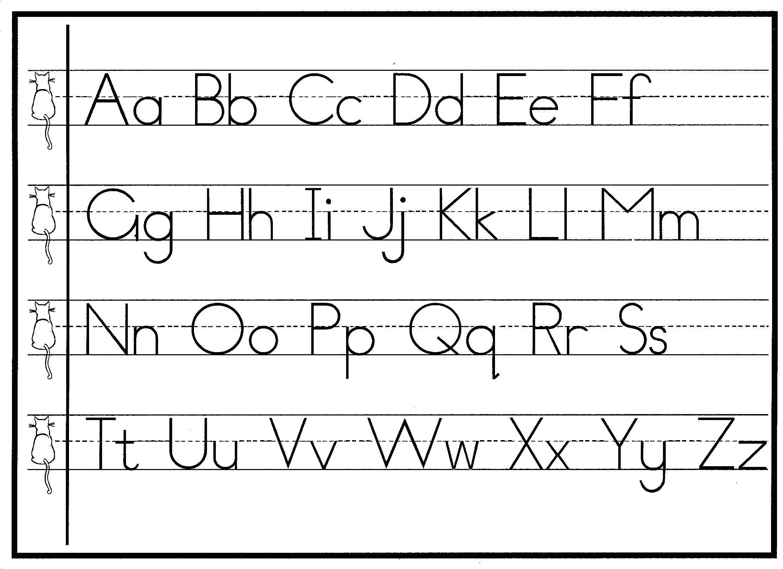 Preschool Writing Worksheets A-z For Beginners 2