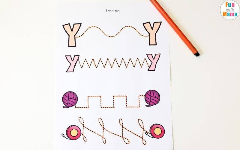 Preschool Y Worksheets 3