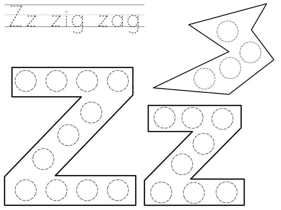 Preschool Z Worksheets 2