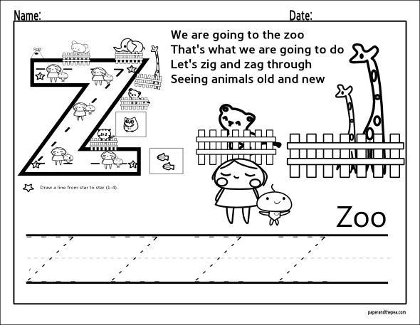 Preschool Z Worksheets 7