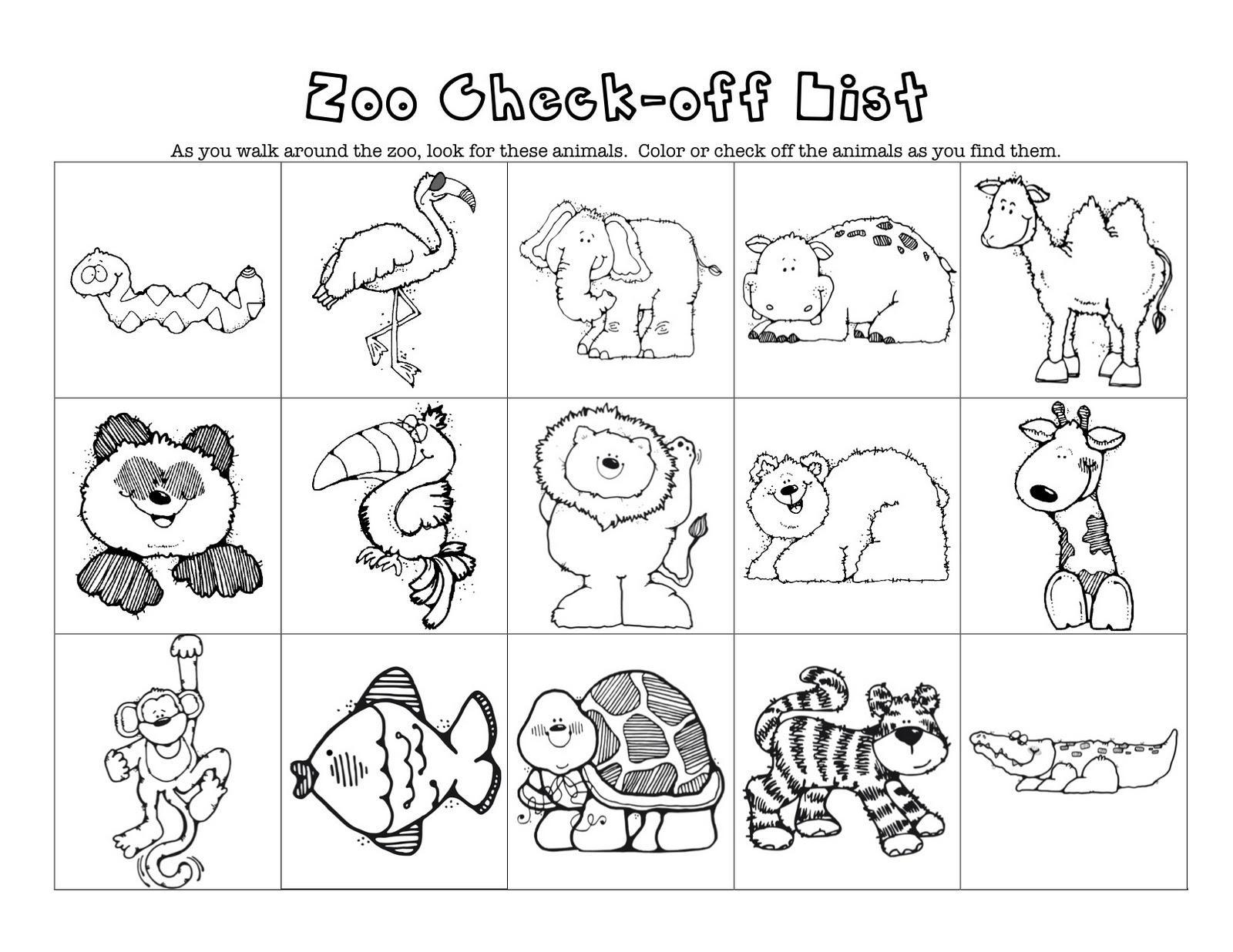 Preschool Zoo Worksheets 4