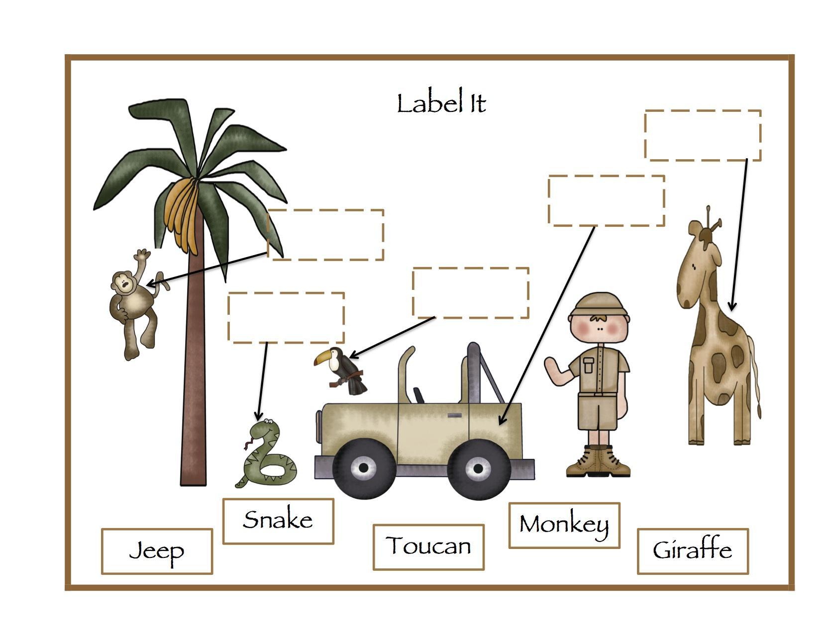 Preschool Zoo Worksheets 8