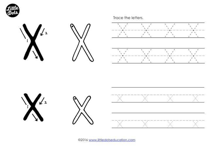 The Letter X Worksheets Preschool
