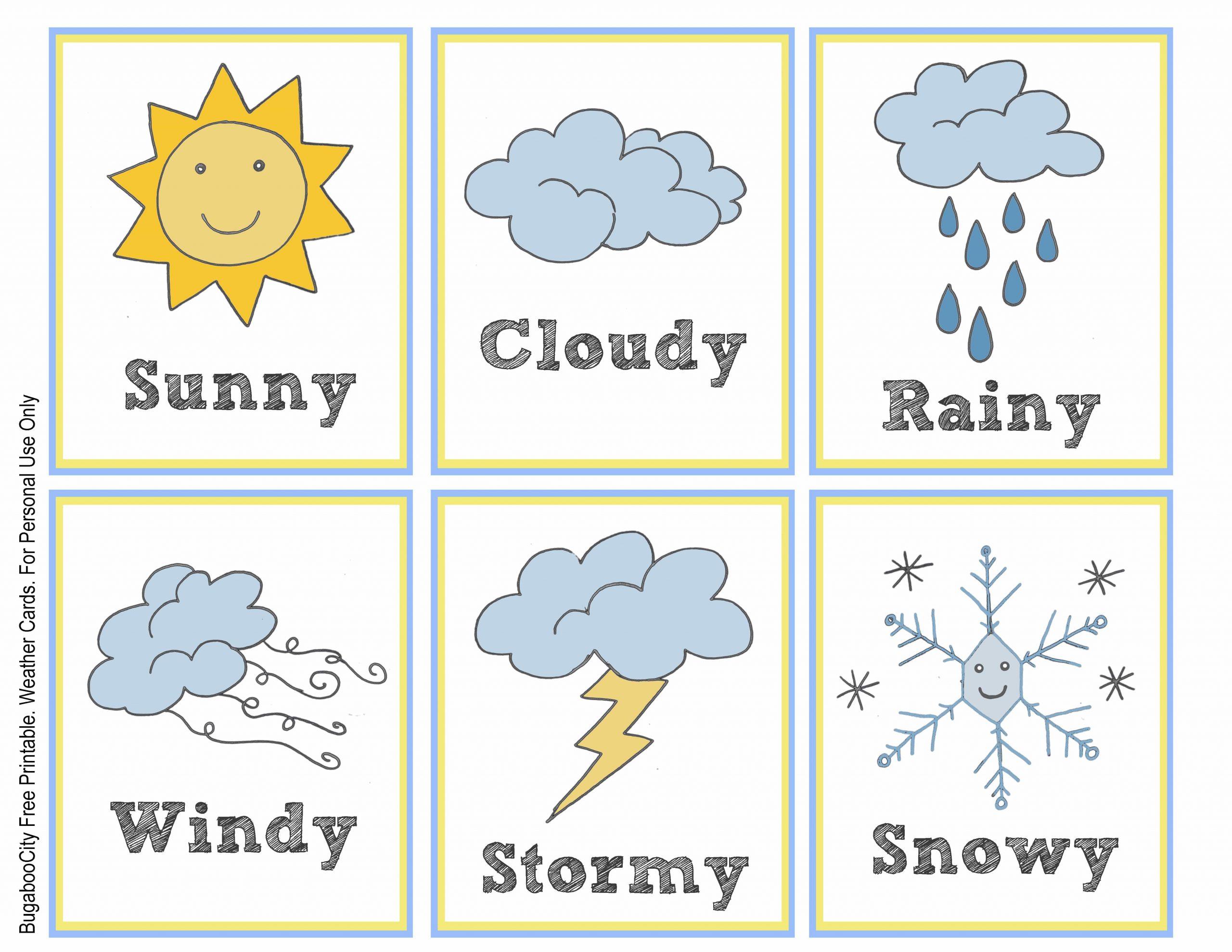 Weather Worksheets For Pre K