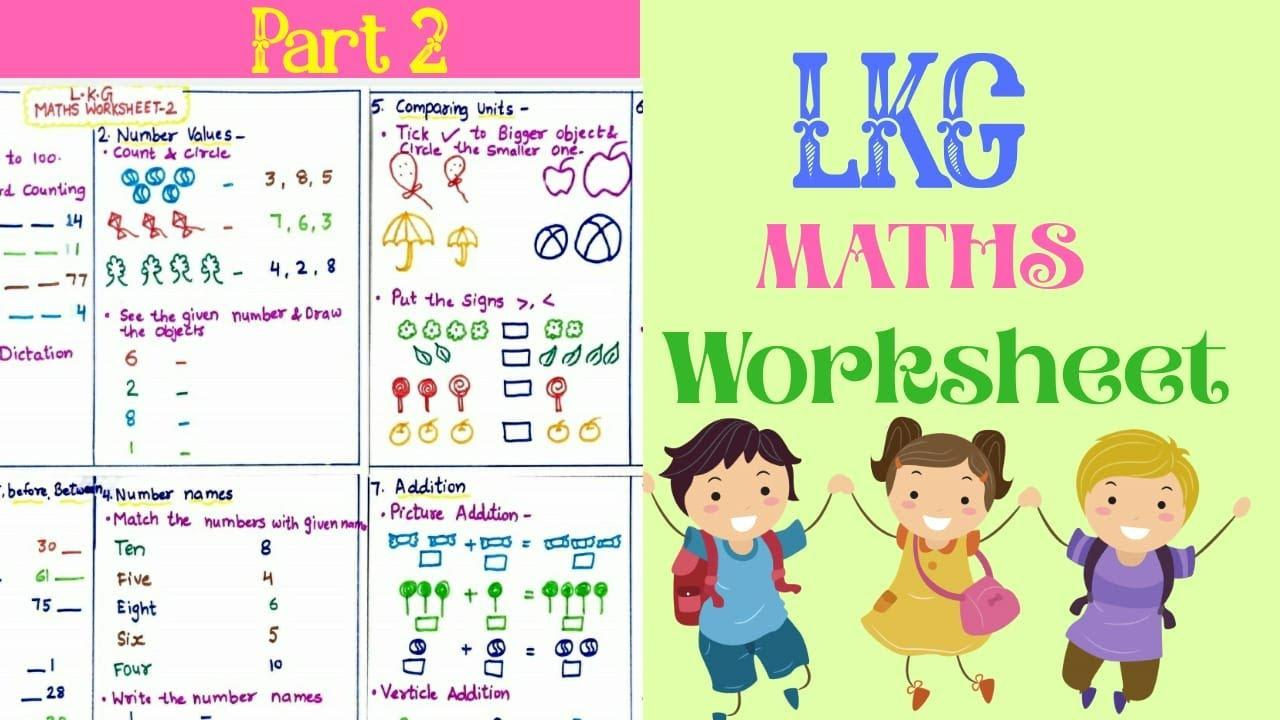 Math Worksheet Of Lkg