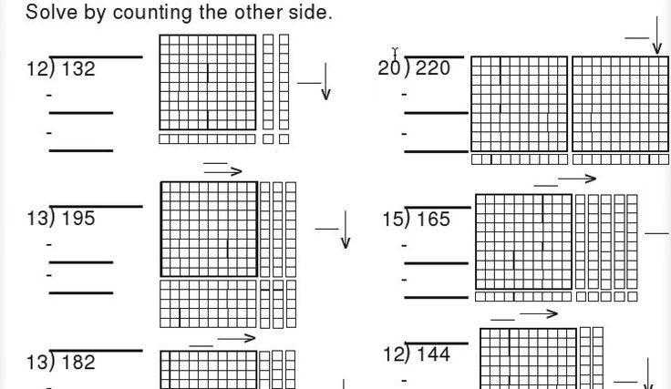 Math Worksheets Division 4