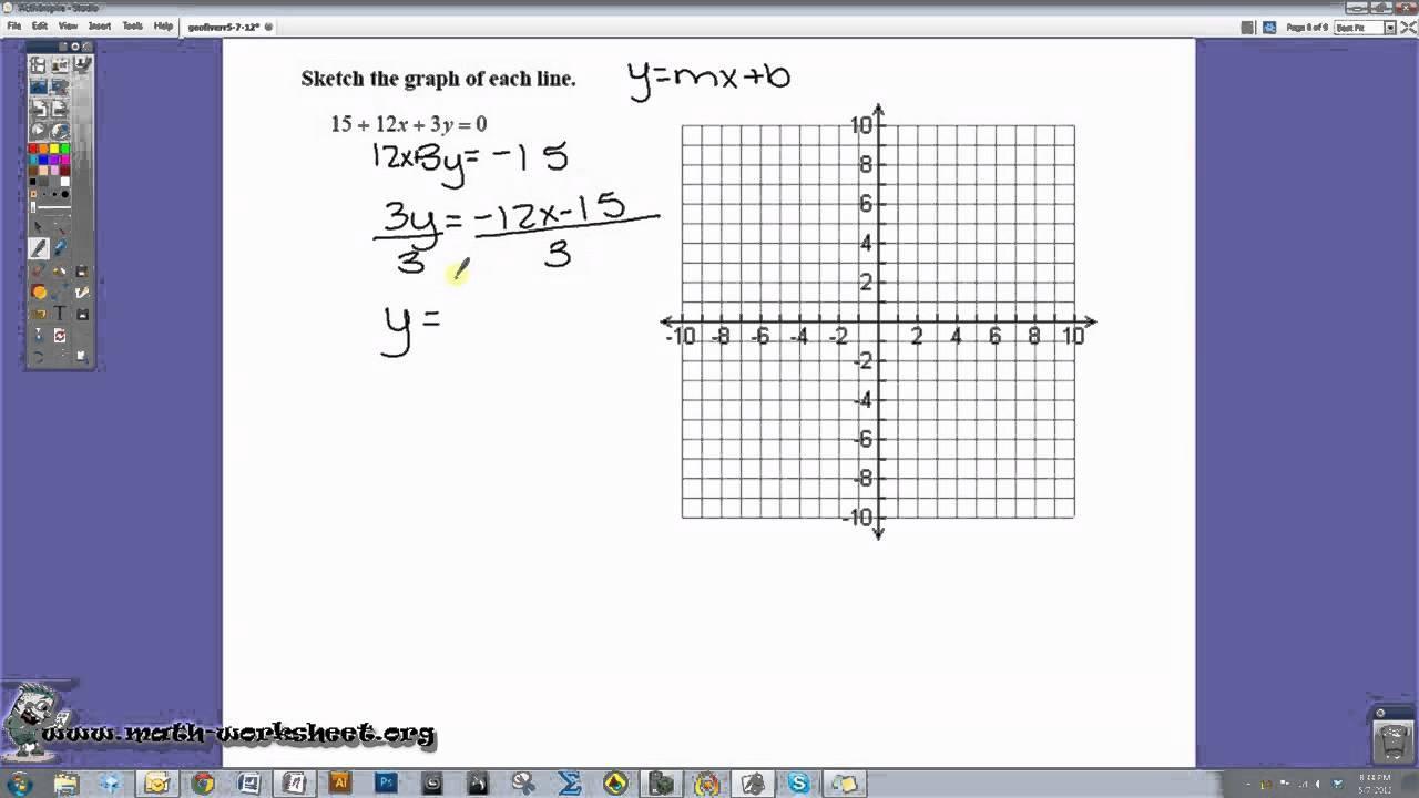 Math Worksheets Equations 4
