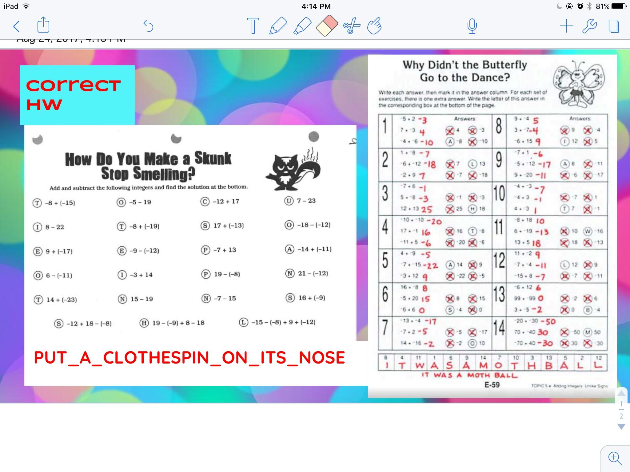 Math Worksheets For Junior High Students 4