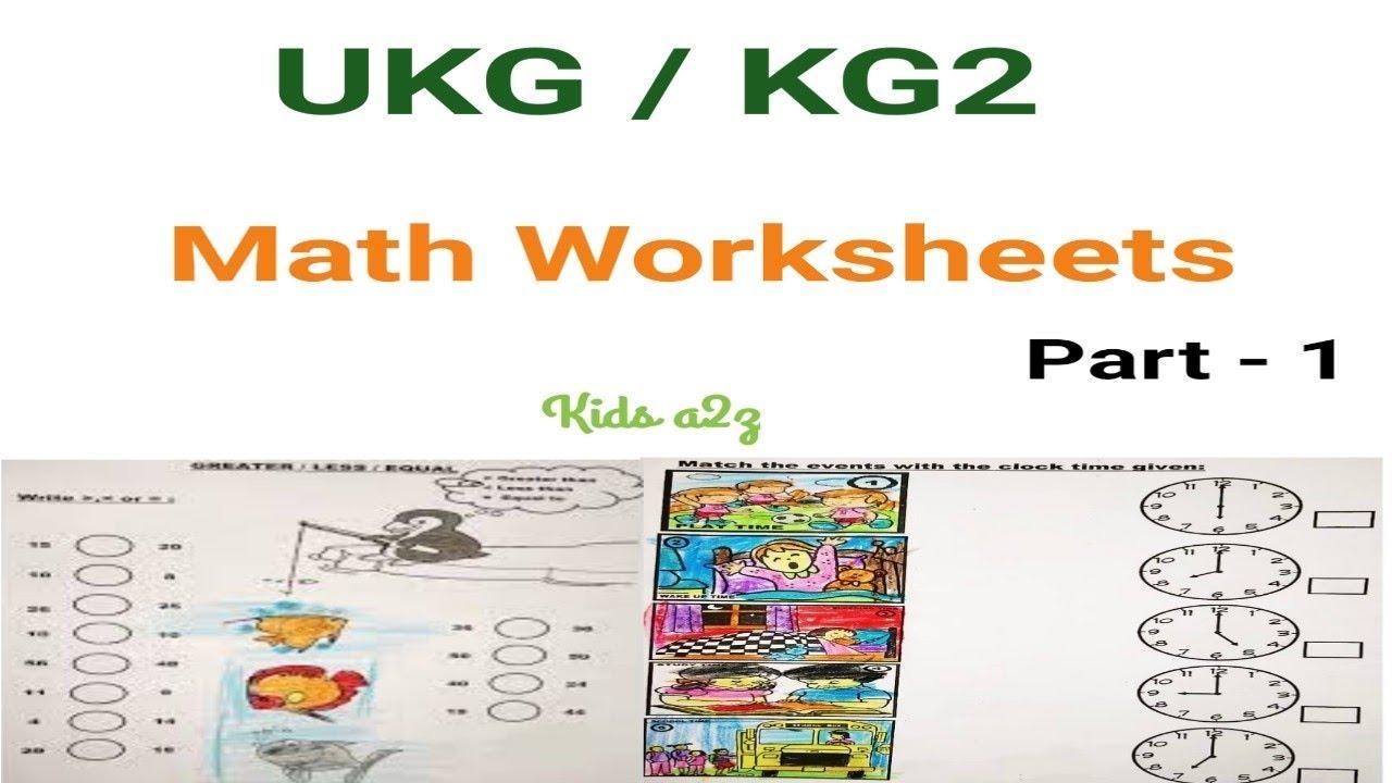 Math Worksheets For Kg2 Pdf