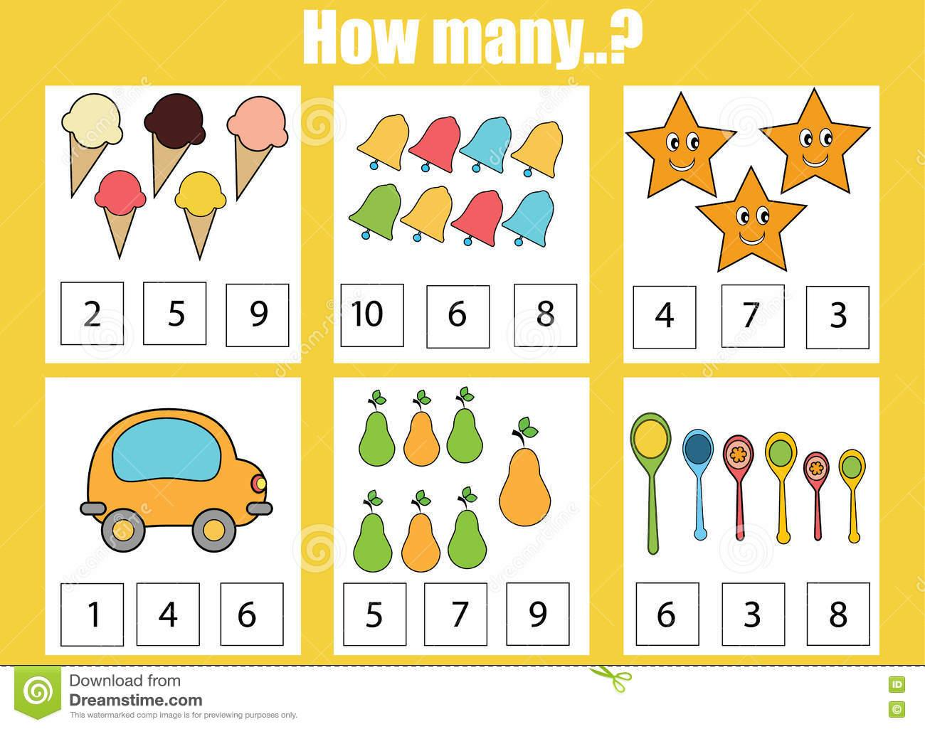 Math Worksheets How Many 8
