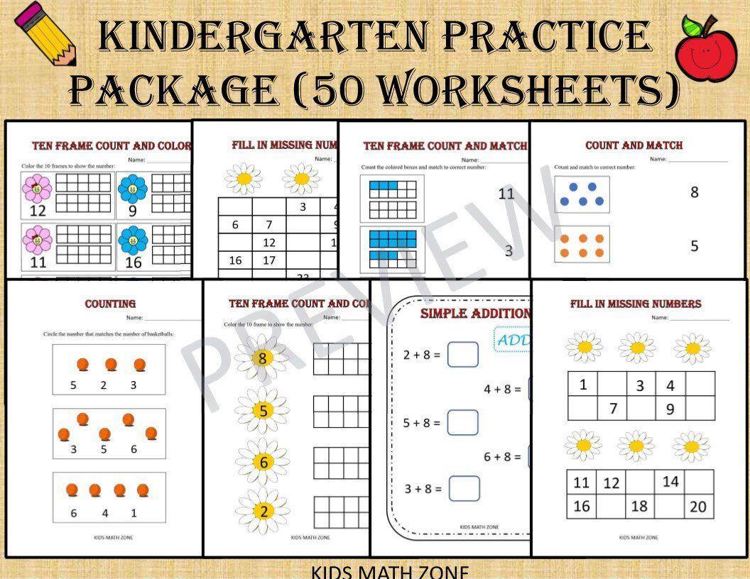 Math Worksheets Kindergarten Printable