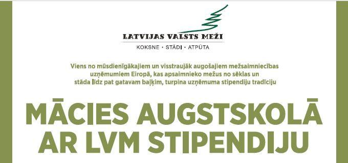 Piesakies Latvijas valsts mežu stipendijai!