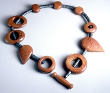 Carved Mica Ingot Beads
