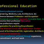 Difference between Occupation and Profession