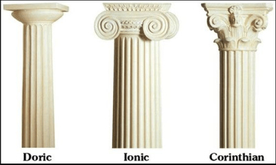 Difference between Doric and Ionic Architecture
