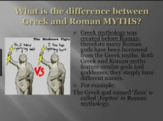 Difference between Greek and Roman Gods
