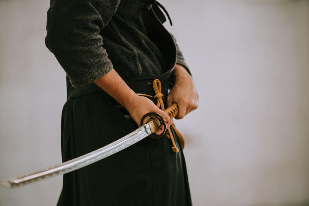 Samurai holding his sward