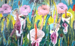 Floral painting by Cuban artist Tomas Esson