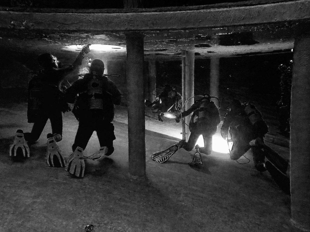 Plonger en fosse, c'est ce que font ces plongeurs en Belgique