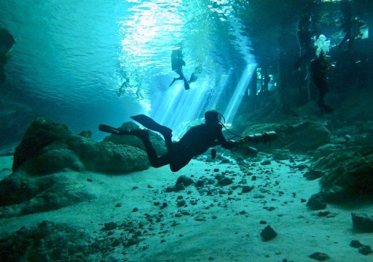 Plonger dans les cenotes