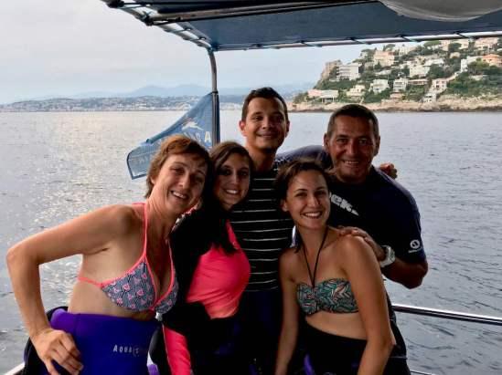 Plongée avec l'équipe Aqua Lung à Nice