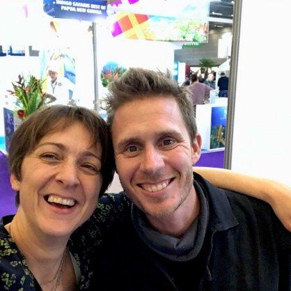 Hélène et Pierre venu tout droit du Japon pour le Salon de la Plongée 2020