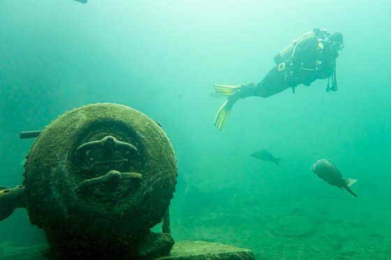 Plongeur à la Croisette