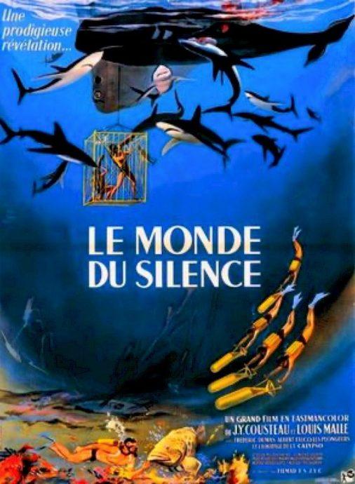 L'affiche du film Le monde du silence.