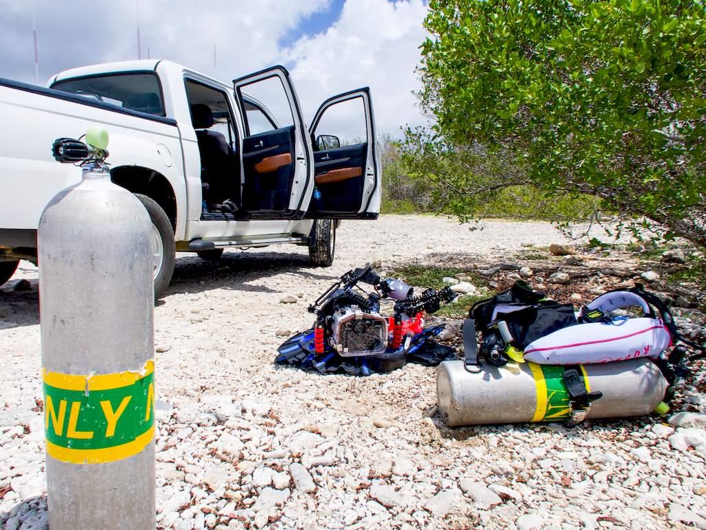 Plonger à Bonaire du bord est la façon préférée des plongeurs