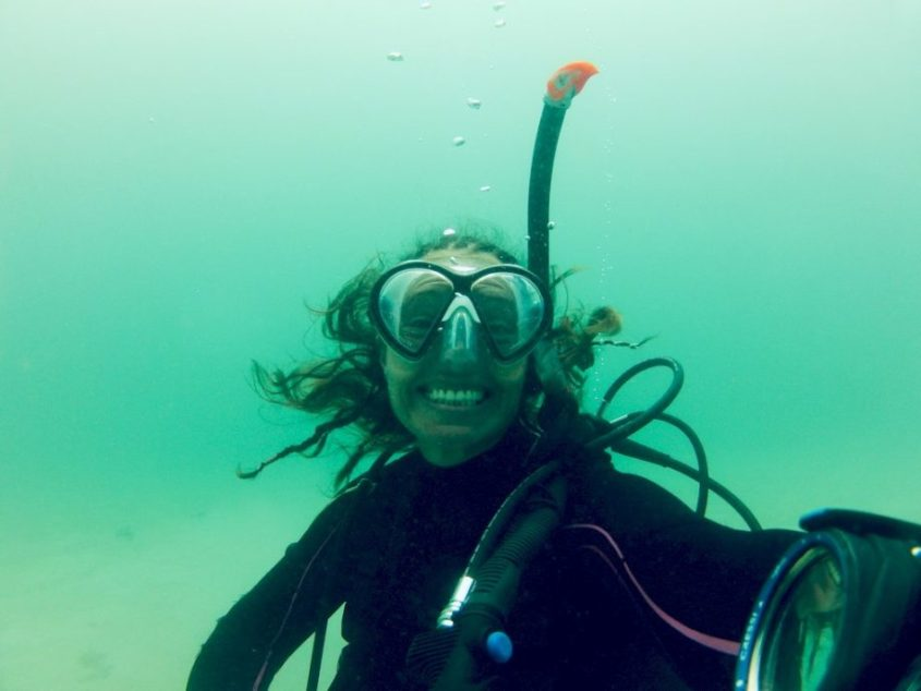 Lisa Martinez en plongée à Madagascar