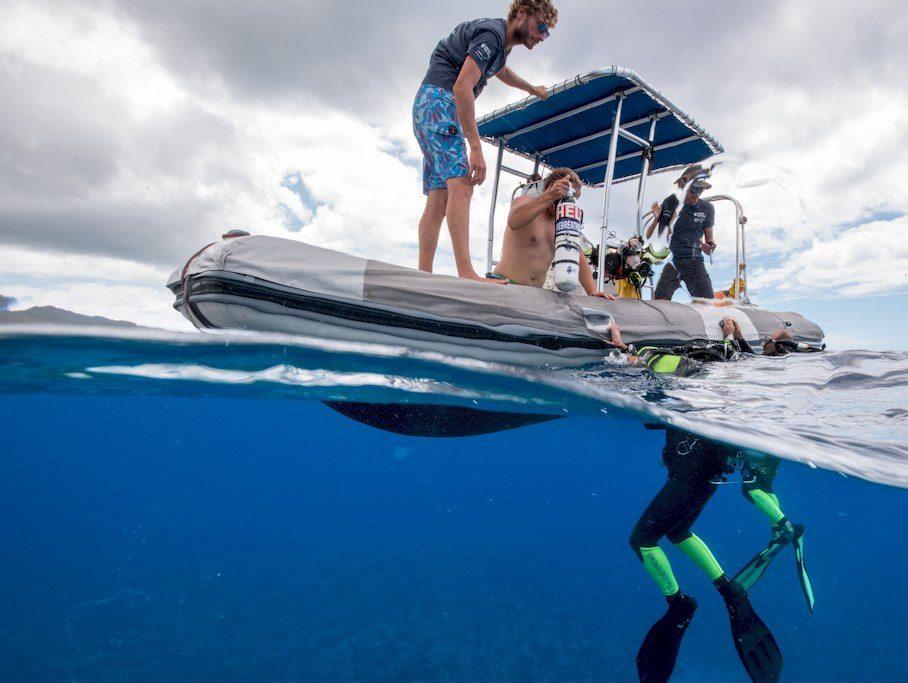 Les plongeurs de l'expédition Under The pole reviennent en surface