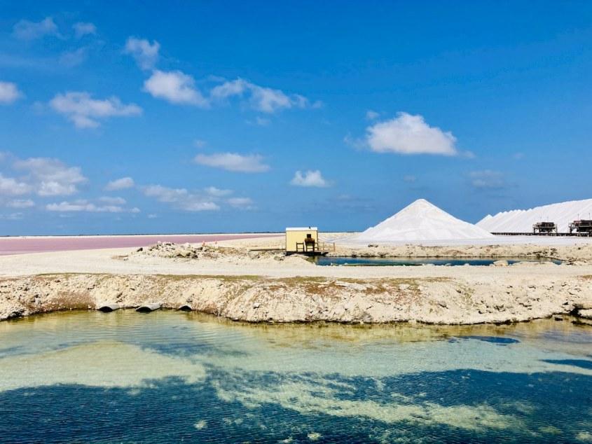 Les salines près du Salt Pier de Bonaire